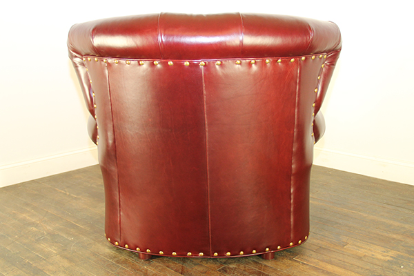Rear View of Tufted Fan back chair