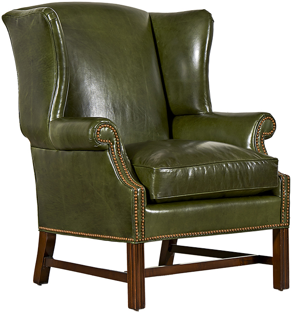 Classic Chippendale Wing Chair
