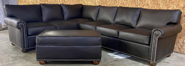 Petite Manchester Leather Furniture Sectional
